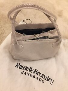 Mini Pale Grey Cream Bag Handbag