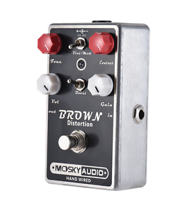 Moskyaudio-Hand-Made-BROWN-Overdrive-Distortion-Guitar-FX-Pedal-Brown-Sound