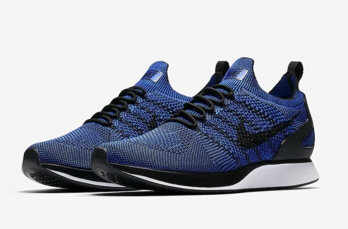 NIKE AIR ZOOM MARIAH FLYKNIT RACER RUNNING SHOES BLUE MEN 11.5 NEW 918264-007