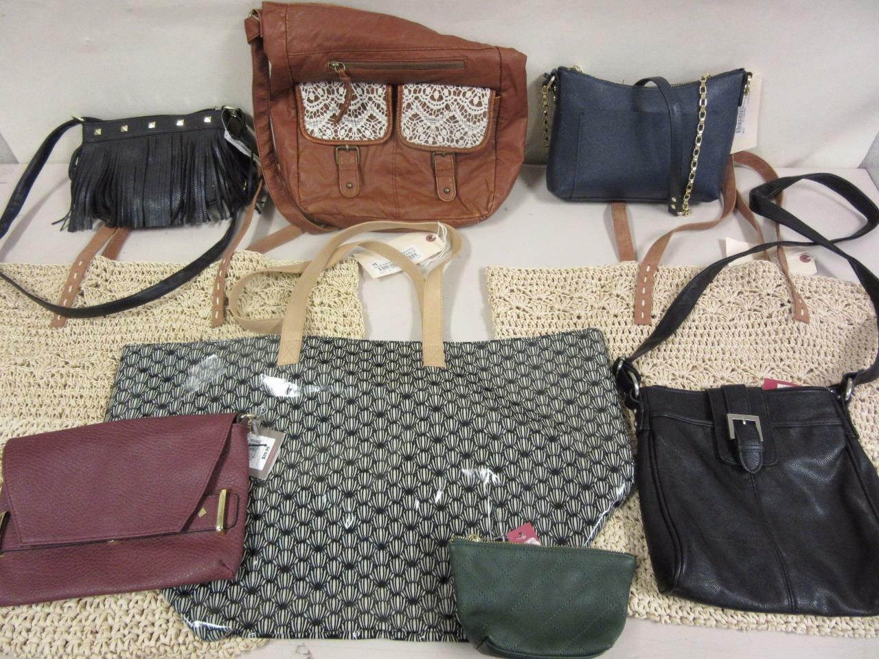 Lot of 9 Assorted Purses Bags Merona Sam&Libby New Unused For Resale