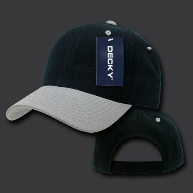 91d832b3c4c Black   Gray Plain Blank Solid Adjustable Tennis Baseball Ball Cap Hat Caps  Hats