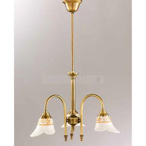 Lampadario per bagno in ceramica dipinta e ottone stile classico ab 2025 ebay - Lampadari per bagno classico ...