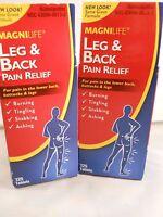 Magnilife Leg & Back Pain Relief Tablets 125 Tablets Each ( 2pk Bundle)