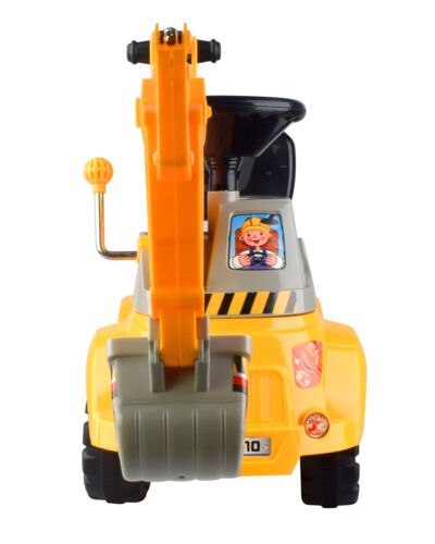 Ride-on Excavator Digger Scooter Pulling Car Pretend Play Construction Truck