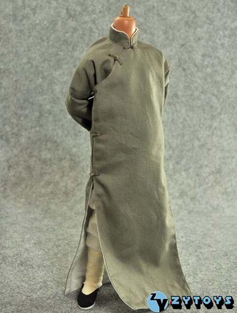 "F 12/"" Figure Black Chinese-style Costume Kung Fu Set 1//6 ZY Toys"