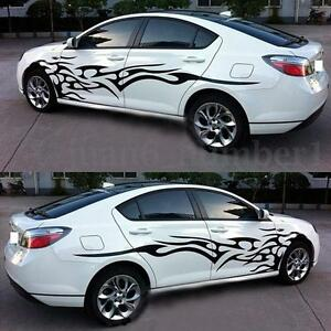 Black Car Decal Vinyl Graphics Two Side Stickers Body Decals - Car decals stickers graphics