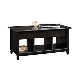 Coffee table modern style wood lift top work desk storage compartments