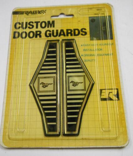 NOS Vintage Ford Mustang Custom Door Guard Trim Distinctive Custom Label