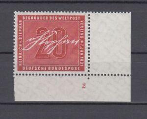 Bund-227-Heinrich-von-Stephan-Eckrand-mit-Formnummer-2-mnh