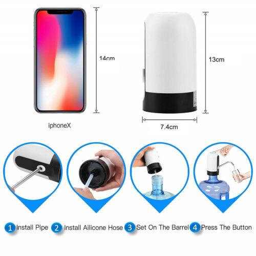 Drahtloser Automatischer USB Wiederaufladbarer Wasserspender Wasserpumpe