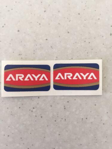 "Araya Old School Bmx Rim Wheel Stickers Decals Era Correct 20/"""