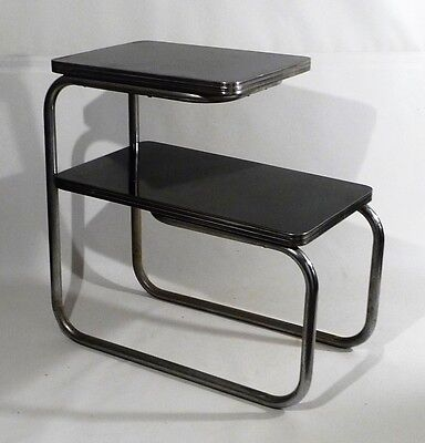 ART DECO Chrome Bakelite two tier side Occasional table 1930s Bach Lloyd Style