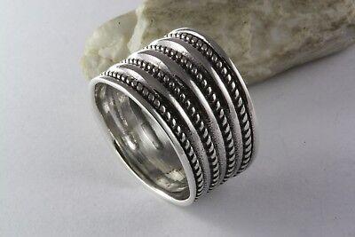 Design Breiter Bandring Gothic Silberring 925 Echt Silber / 104