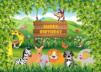 UK Photography Background Animals Photo Backdrop Props Birthday Party Decor