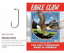 SIZE #3/0 - EAGLE CLAW 570 BRONZE JIG HOOK - 1000 PER PACKAGE - FREE SHIPPING !!