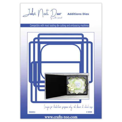 NEW AS SEEN ON TV Square Scene Box 4pcs John Next Door Card Die Collection