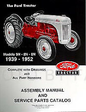 Ford 2n 8n 9n Tractor Assembly Book And Parts Manual 1939 1952 Catalog