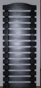 CUSTOM BLACK PAINTED KARATE BELT DISPLAY RACK 13 SLATS