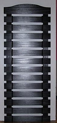 KARATE BELT  DISPLAY RACK 6 SLATS PERSONALIZED AND STAINED