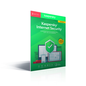 Kaspersky Internet Security 2021  3 PC-1 Jahr Multy Vollversion Premium-Schutz