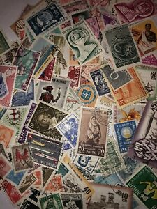 60 Worldwide Off Paper Foreign Stamps Sampler - World Stamp Collection