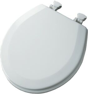 Church White Wood Round Toilet Seat New Molded Mayfair