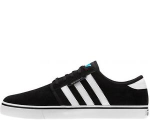 Image is loading Adidas-SEELEY-Black-White-Black-Skateboarding-G66639-223-