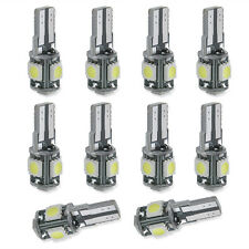 10x T10  Led Canbus Error Free 5 SMD Car Side Wedge White light Bulb 168 194 W5W