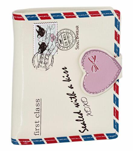 Cream Shagwear Vintage Love Letter Short Bi-Fold Wallet