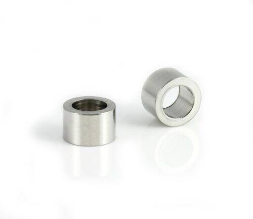 6x acero inoxidable corredera tubo ID 5 mm joyas fabrican pulsera
