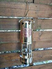 Superbe lampe de mineur en laiton massif avec plaque cuivre British company