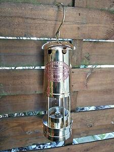 Superbe-lampe-de-mineur-en-laiton-massif-avec-plaque-cuivre-fonctionelle