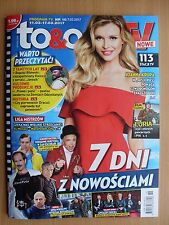To & Owo TV 10/2017 JOANNA KRUPA on front cover in.Brad Pitt,Logan Lerman