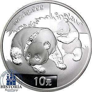 China-Panda-2008-Silber-Unze-10-Yuan-Silbermuenze-in-Muenzkapsel