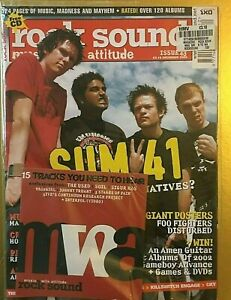 Rock-Sound-43-Dec-2002-SUM-41-Cover-Sealed-Foo-fighters-Disturbed-PinUp-PearlJam