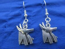Egyptian God ANUBIS (Inpu/Anpu) dangle earrings FREE SHIPPING