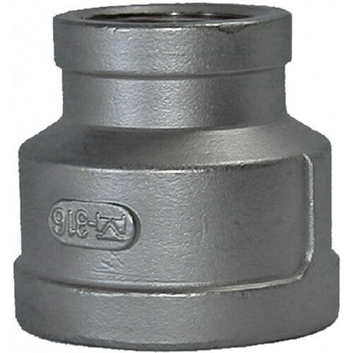 "1-1//2/"" X 1/"" BSPP Reducing Socket F//F 316 Stainless Steel 150LB Pipe Fitting"