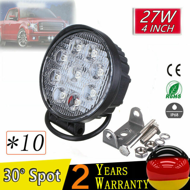 10X27W LED Redondo Faros de trabajo de la luz de camiòn Làmpara Work Light 4x4WD