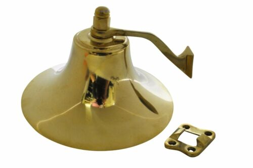 "Lacquered Brass Boat Marine Fog Bell 6/""Wx 4/""H for Boats up to 40/' USCG approved"