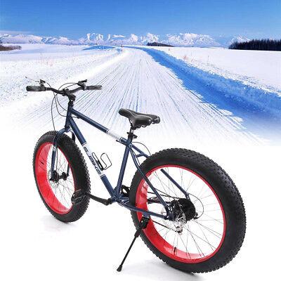 """Fat Tire Mountain Bike 26""""All Terrain Dirt Mud Offroad Bicicletta da equitazione"""