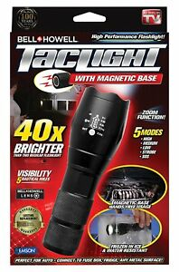 Bell and Howell Super Bright Tactical LED Flashlight with Magnetic Base