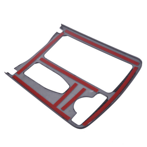 Carbon Fiber Style Cup Holder Frame Cover Trim fit for Mercedes Benz C Class New