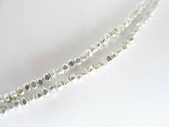 Karen Hill Tribe Silver 250 Faceted Seed Beads 1.6 mm.13 inches