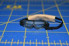 """1:6 scale Clear Black Goggles Eyewear w/ Tan Stap for 12"""" Action Figures C-208"""
