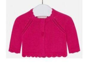 9e25f93e0477 Designer MAYORAL Baby Girl Bolero Cardigan Pink 100% Cotton Knit WAS ...