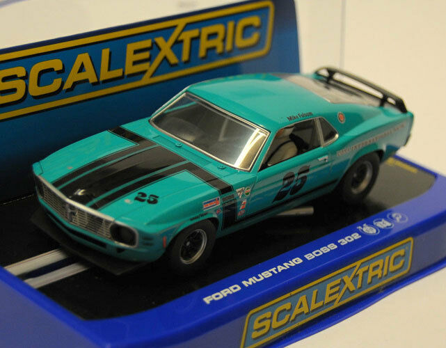 Scalextric C3318 1969 Ford Mustang Boss 302 - USA only Slot Car 1 32