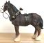 Shire-Cart-Heavy-Horse-in-harness-ornament-figurine-quality-Leonardo-gift-boxed miniatuur 2