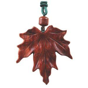 Tj ca cm carved red sandlewood carving netsuke maple