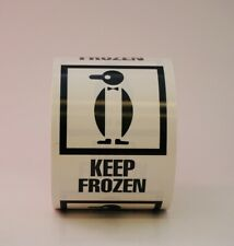 Keep Frozen Penguin Labels 3 X 4 500 Per Roll Shipping Label