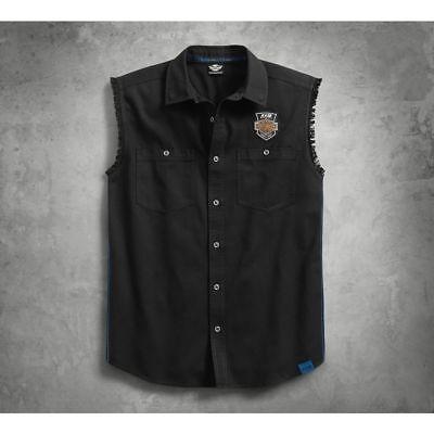 Harley-Davidson® Men/'s Americana Sleeveless Blowout Shirt Off-White 96185-18VM